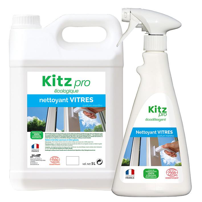 Nettoyant Vitres Kitz Pro - Nettoyants écologiques puissants pour l'entretien des locaux professionnels et de la maison.