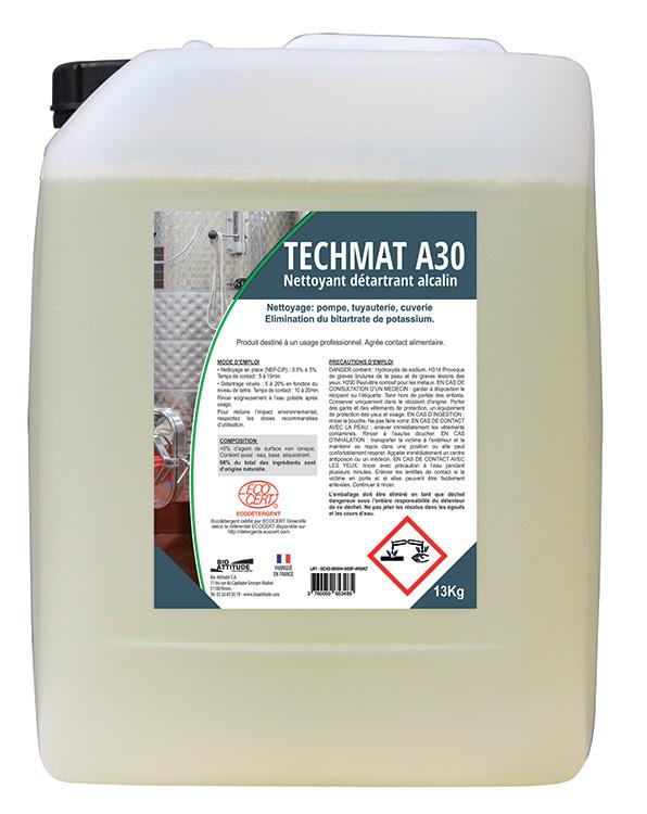 Nettoyant dégraissant Non Moussant Techmat A30 -
