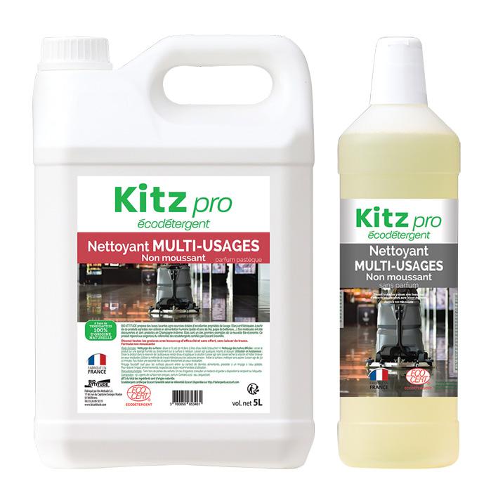 Nettoyant Sols et Multi-usages Non moussant Kitz Pro - Nettoyants écologiques puissants pour l'entretien des locaux professionnels et de la maison.