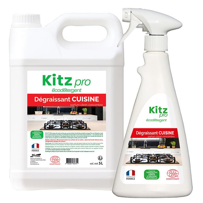 Dégraissant Cuisine Kitz Pro - Nettoyants écologiques puissants pour l'entretien des locaux professionnels et de la maison.