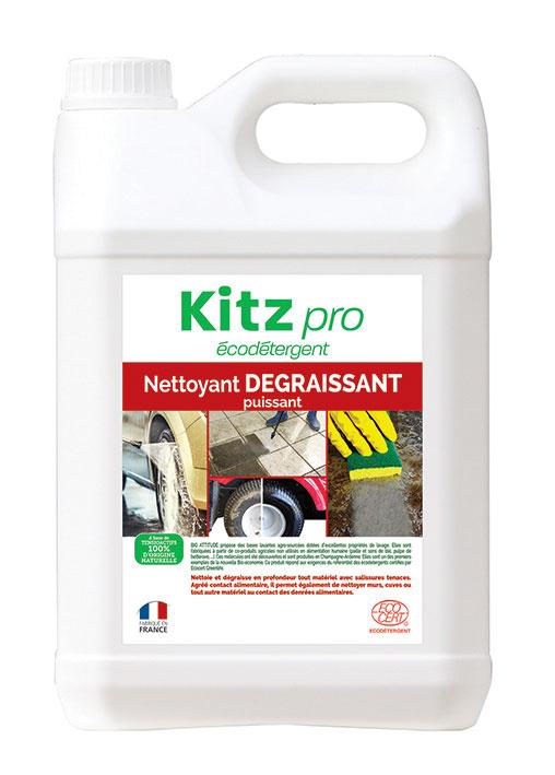 Nettoyant Dégraissant Puissant Kitz Pro - Nettoyants écologiques puissants pour l'entretien des locaux professionnels et de la maison.