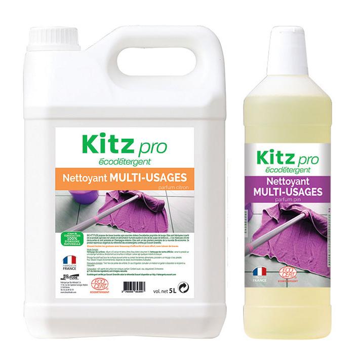 Nettoyant Sols et  Multi-usages Kitz Pro - Nettoyants écologiques puissants pour l'entretien des locaux professionnels et de la maison.