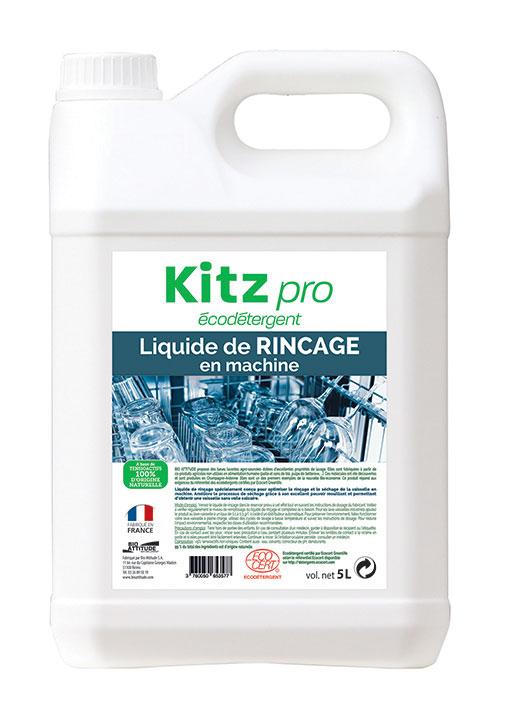 Liquide de Rinçage en Machine Kitz Pro - Nettoyants écologiques puissants pour l'entretien des locaux professionnels et de la maison.
