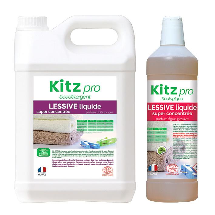 Lessive Liquide Kitz Pro - Nettoyants écologiques puissants pour l'entretien des locaux professionnels et de la maison.