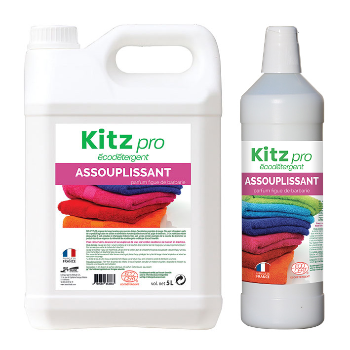 Assouplissant Kitz Pro - Nettoyants écologiques puissants pour l'entretien des locaux professionnels et de la maison.
