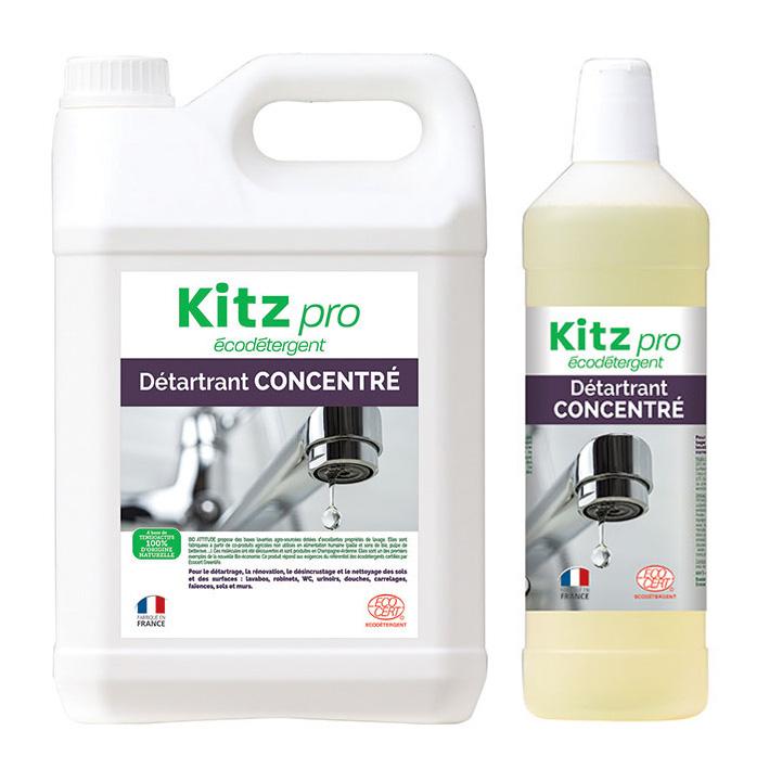Détartrant Concentré Kitz Pro - Nettoyants écologiques puissants pour l'entretien des locaux professionnels et de la maison.