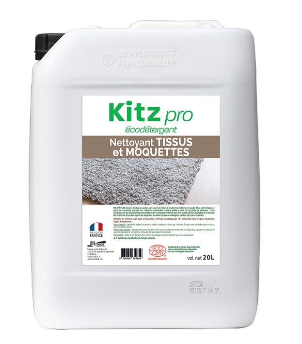 Nettoyant Tissus et Moquettes PAE Kitz Pro - Nettoyants écologiques puissants pour l'entretien des locaux professionnels et de la maison.