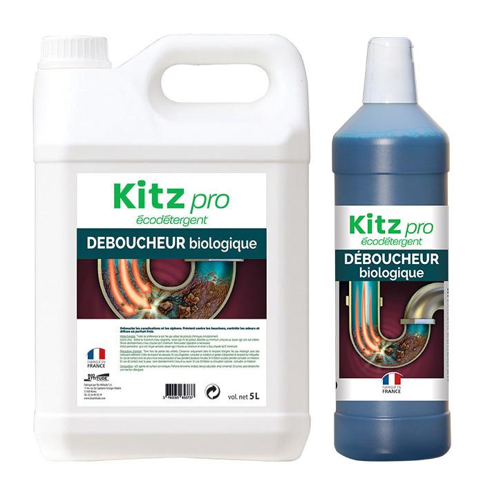 Déboucheur biologique Kitz Pro - Nettoyants écologiques puissants pour l'entretien des locaux professionnels et de la maison.